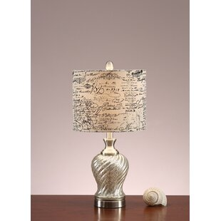 Meier Polyresin 23 Table Lamp with Paper Print Shade (Set of 2)