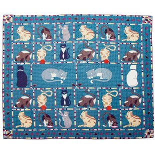 Patch Magic Kitty Cat King Cotton Quilt