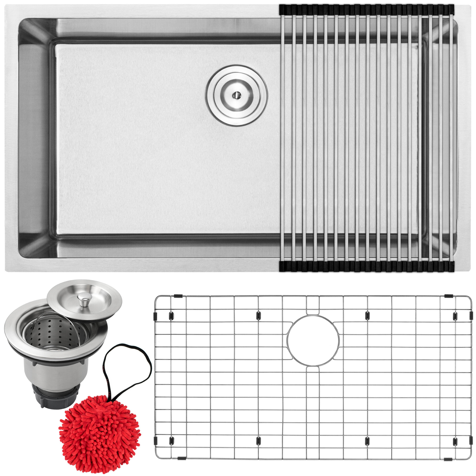 Phoenix Arlo Series Stainless Steel 31 25 L X 18 W Undermount Kitchen Sink With Accessories Wayfair