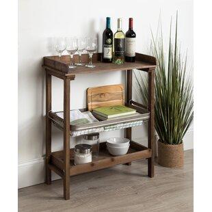 Eleni Farmhouse Chic Galvanized Storage Basket 3-Tier End Table