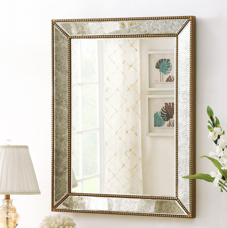House Of Hampton Carys Decorative Beveled Wall Mirror Wayfair