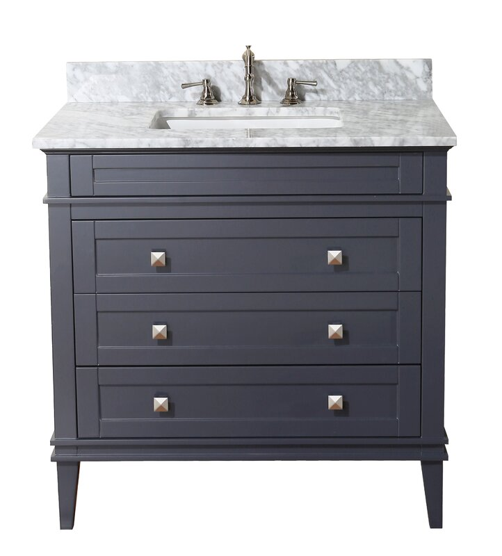 "kbc eleanor 36"" single bathroom vanity set & reviews 
