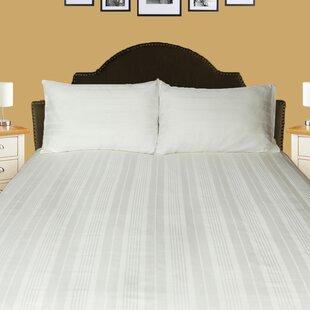 Red Barrel Studio Hunnicutt Sateen Stripe 300 Thread Count 100% Cotton Sheet Set