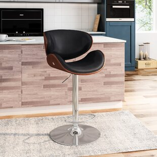 Silsden Adjustable Height Swivel Bar Stool Orren Ellis