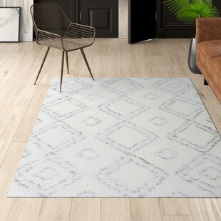 Cardoso Shag White Area Rug by Mercury Row