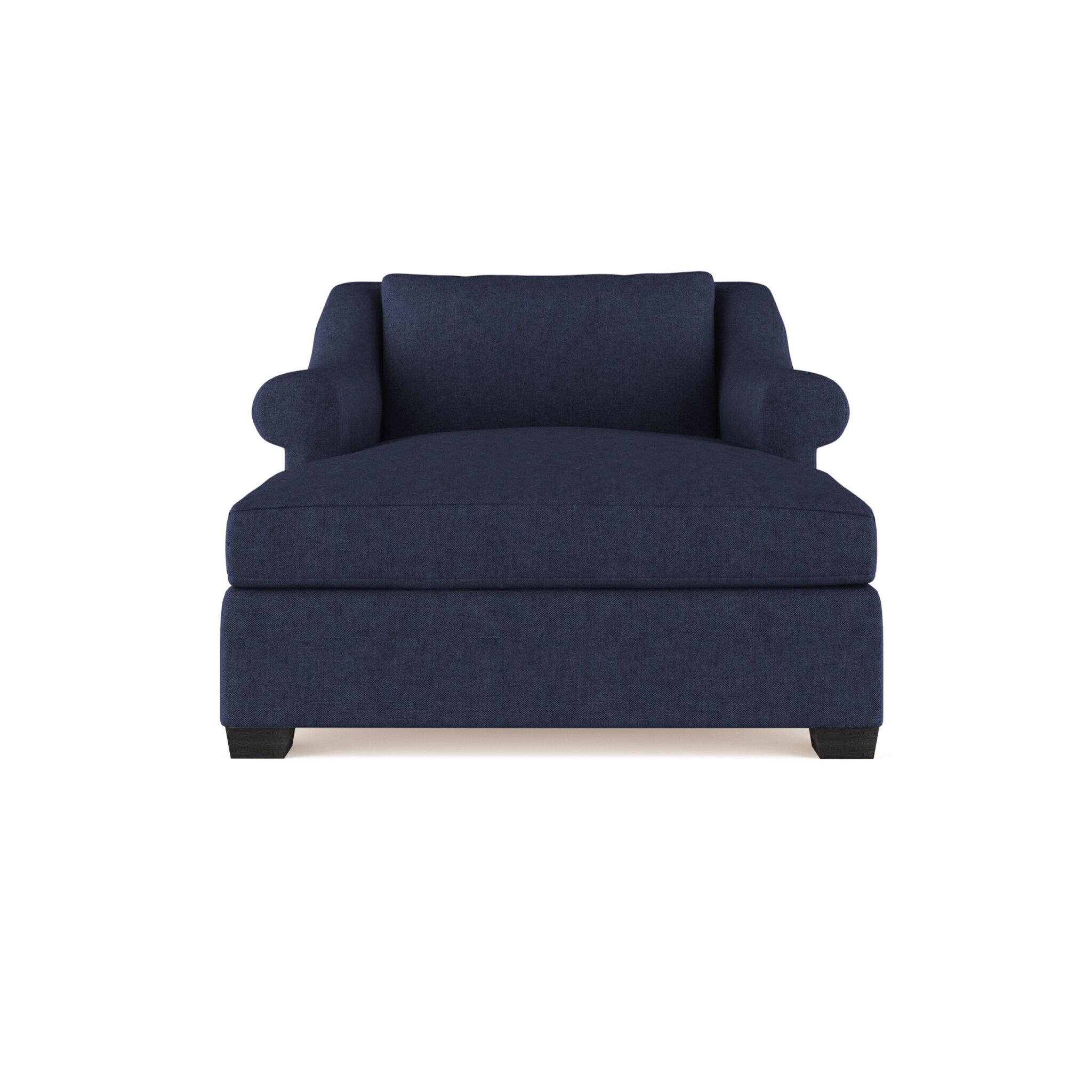 Canora Grey Auberge Velvet Chaise Lounge Wayfair Ca