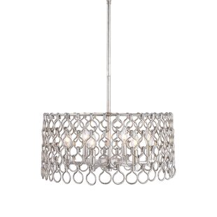 House of Hampton Barrett 6 -Light LED Drum Pendant