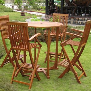 Sabbattus 5 Piece Bar Height Dining Set