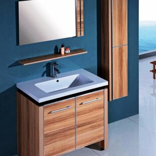 Strang 31 Single Bathroom Vanity Set with Mirror and Cabinet by Ebern Designs