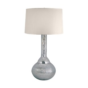 Chien Mercury Glass Fluted Bulb 33 Table Lamp