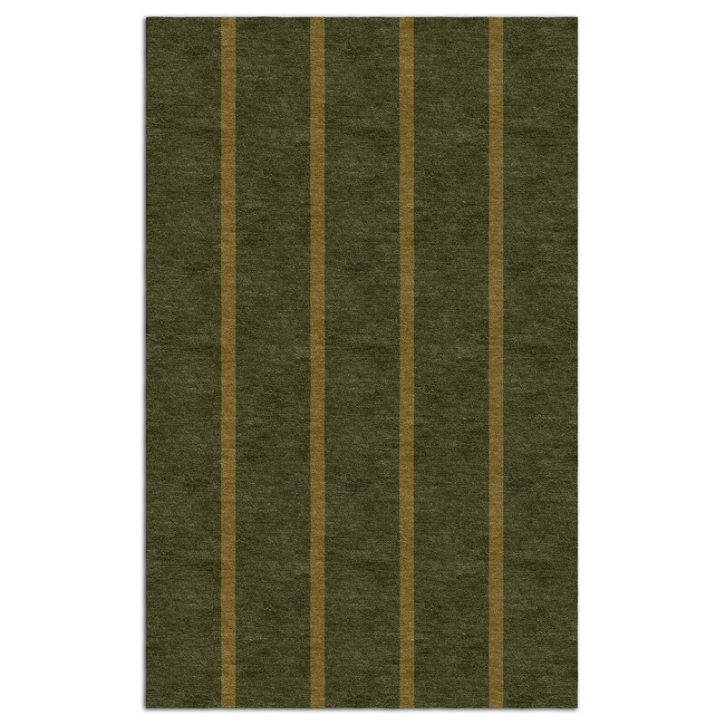 Darby Home Co Teignmouth Stripes Hand Tufted Wool Hunter Area Rug Wayfair