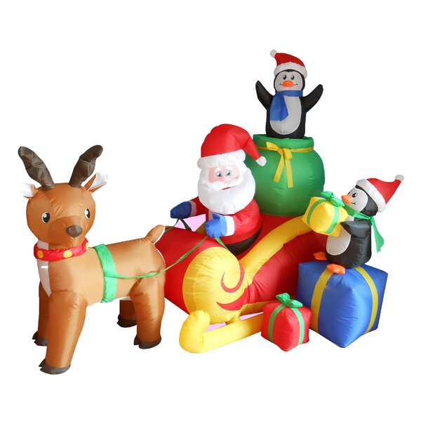 christmas inflatables youll love wayfair - Christmas Blow Ups
