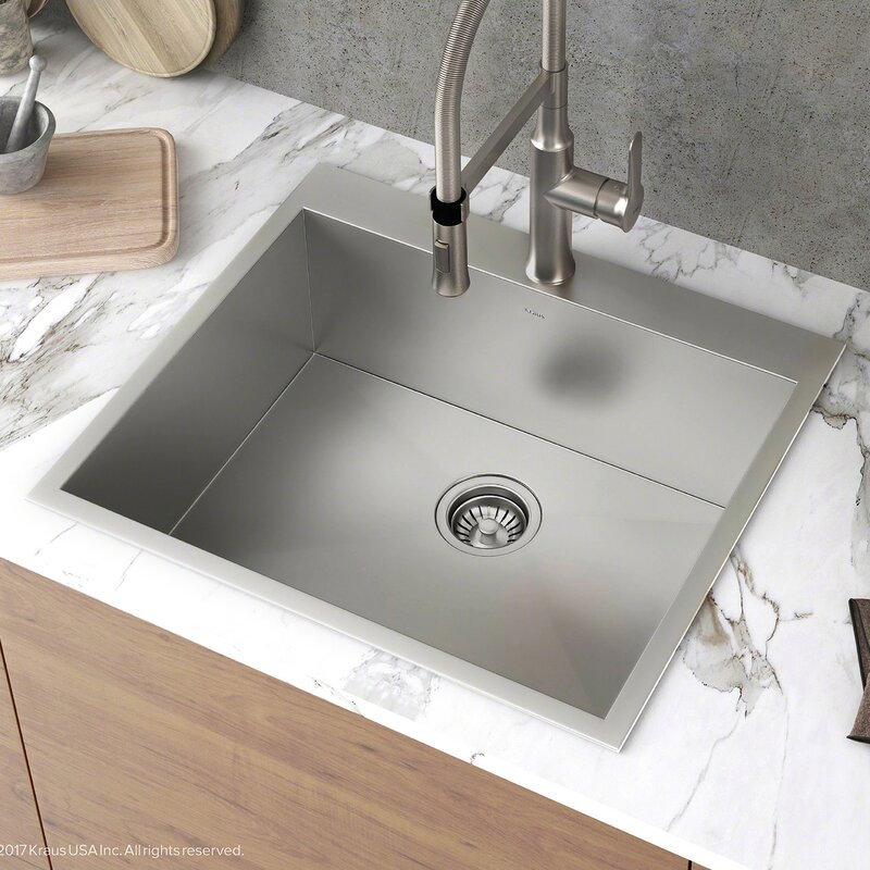 kraus pax zero radius topmount series 25 x 22 drop in kitchen rh wayfair com 25 x 22 cast iron kitchen sink 25 x 22 double kitchen sink