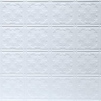 Shanko Pre Painted 23 75 X 23 75 Metal Tile In White Wayfair