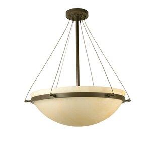 Meyda Tiffany Locus 3-Light Semi-Flush Mount