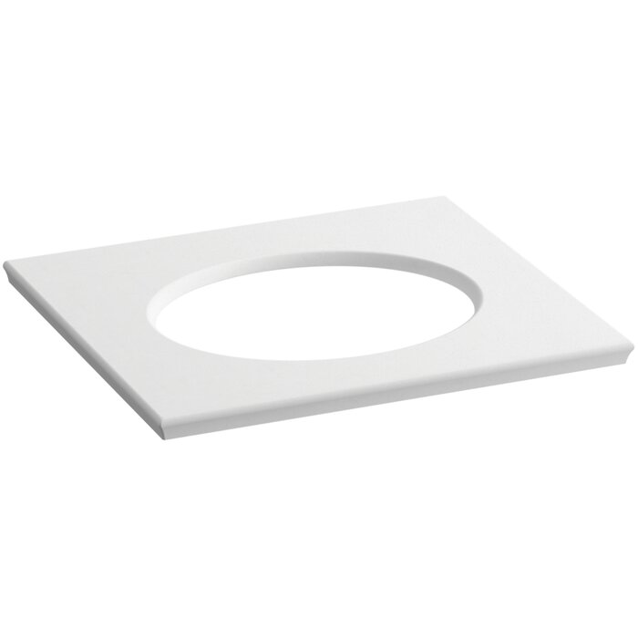 Ice Grey Impressions Solid//Expressions 25-Inch Backsplash Kit