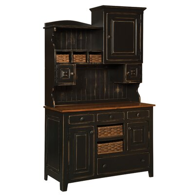 Charlottesville Dining Hutch August Grove Color: Black Cherry