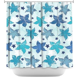 Affordable Dreyer Flowers Shower Curtain ByHarriet Bee
