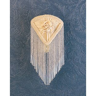 Meyda Tiffany Pontiff Fabric with Fringe Night Light