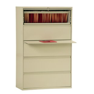 5-Drawer Vertical Filing Cabinet by Symple Stuff