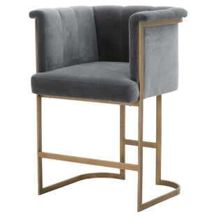 Cheung Velvet 26 Bar Stool Mercer41