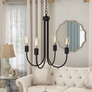 Gracie Oaks Westbury Park 4-Light Candle Style Chandelier