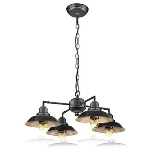 Williston Forge Bacon 4-Light Shaded Chandelier