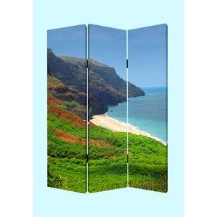 Gurney Slade Hawaiian Coast 3 Panel Room Divider by Latitude Run