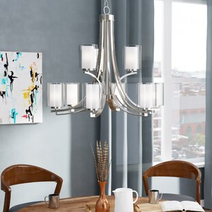 Mercury Row Bensenville 9-Light Shaded Chandelier
