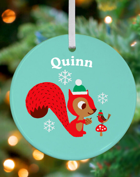 Oopsy Daisy Retro Squirrel Personalized Ornament By Amy Blay Wayfair