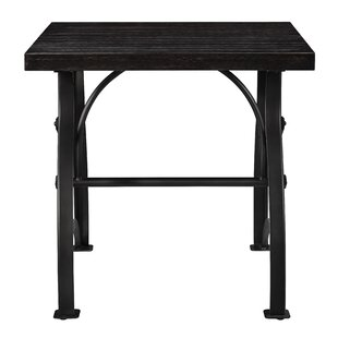 Delanie Wood and Metal End Table