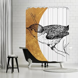 Ikonolexi Bird Single Shower Curtain