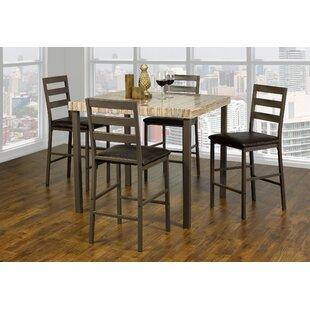 Kisner Marble 5 Piece Dining Set