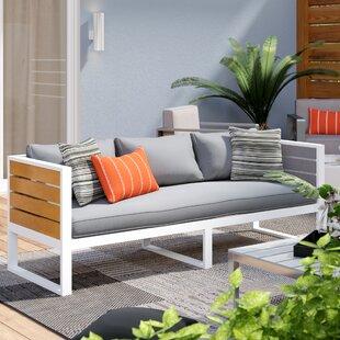 Wade Logan Elkland Outdoor Sofa with Cushions
