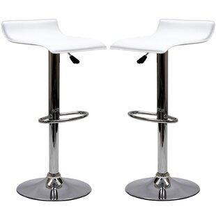 Steuben Adjustable Height Swivel Bar Stool (Set of 2)