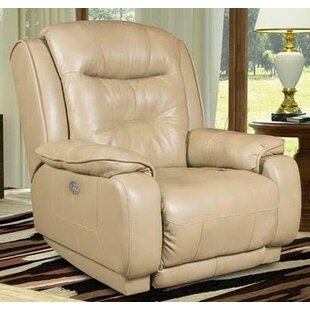 Crescent Leather Manual Recliner