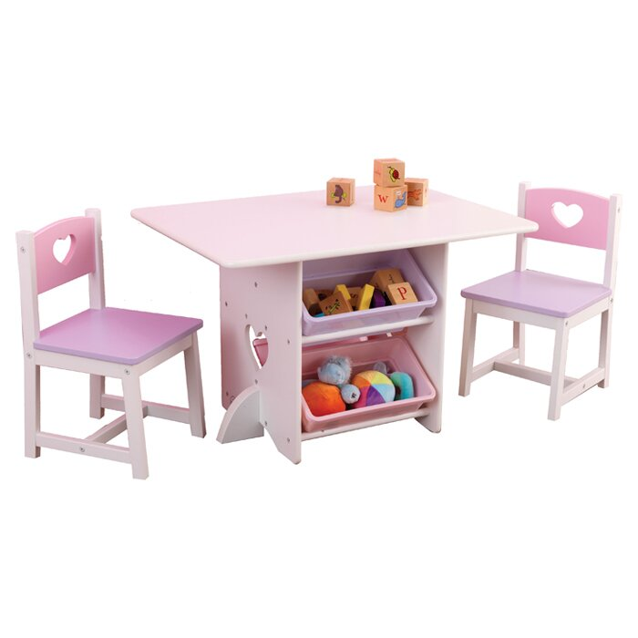 Heart Kids 7 Piece Table \u0026 Chair Set  sc 1 st  Wayfair & KidKraft Heart Kids 7 Piece Table \u0026 Chair Set \u0026 Reviews   Wayfair