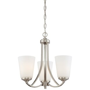 Mildred 3-Light Shaded Chandelier by Andover Mills