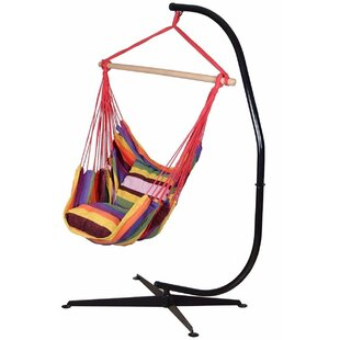 Bungalow Rose Pruitt Cotton Chair Hammock with Stand