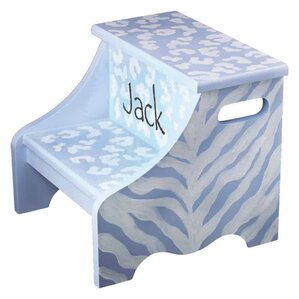 Safari Personalized Step Stool by Renditions by Reesa
