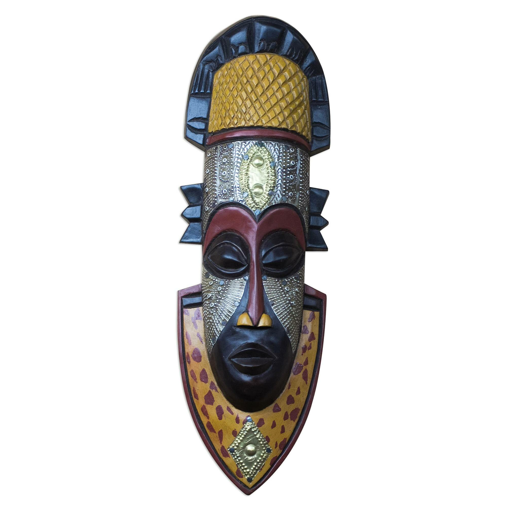 World Menagerie Noble King African Wood Mask Wall Décor Wayfair
