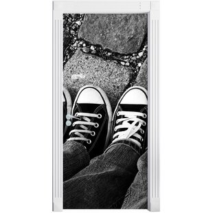 Chucks Black And White Door Sticker By East Urban Home