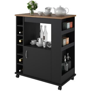Worcester Kitchen Cart with Wood Top