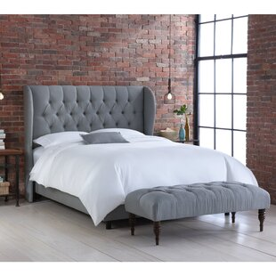 Ambriz Upholstered Panel Bed with Matching Upholstered Bench