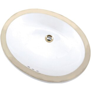 Best Price Petite Maple Vitreous China Oval Undermount Bathroom Sink with Overflow ByMansfield Plumbing Products