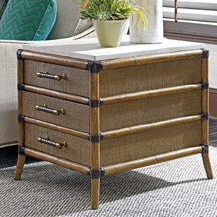 Tommy Bahama Home Twin Palms End Table with Storage