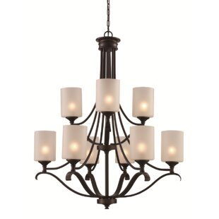 Darby Home Co Clarion 9-Light Shaded Chandelier
