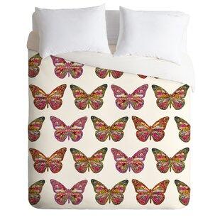 East Urban Home Butterflies Fly Duvet Cover Set