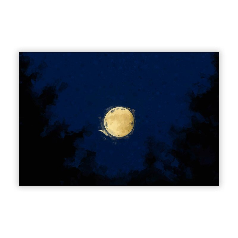 Big Box Art Moon Through The Trees Unframed Graphic Art Print On Paper Wayfair Co Uk
