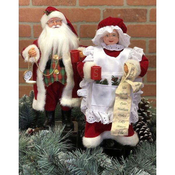 Merry Christmas Festive Season Drinking Mr Santa Claus Wine Bottle Holder Statue